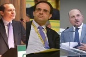 """Arrivare a 50 miliardi di export agroalimentare nel 2020 è un sogno difficile da realizzare, ma non impossibile: la """"ricetta"""" dei presidenti di Confagricoltura (Emiliano Giansanti), Coldiretti (Roberto Moncalvo) e Cia (Dino Scanavino)"""