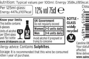 """La Ue spinge per l'indicazione delle calorie anche nelle etichette del vino. L'industria si oppone, soprattutto per una questione di costi. Sandro Sartor, responsabile tavolo """"vino e salute"""" di Unione Italiana Vini: """"usiamo invece i siti aziendali"""""""
