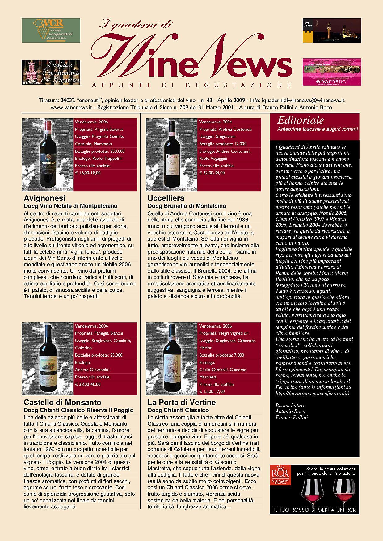 I Quaderni di WineNews