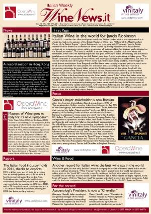 Italian Weekly Wine News N. 10