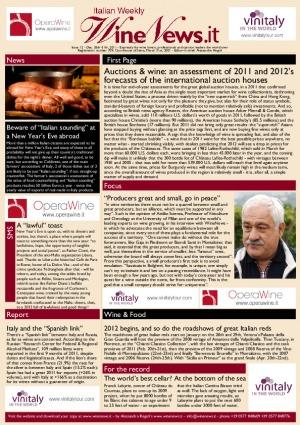 Italian Weekly Wine News N. 12