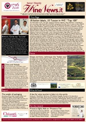 Italian Weekly Wine News N. 284