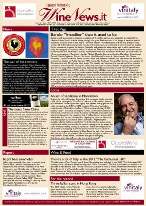 Italian Weekly Wine News N. 63