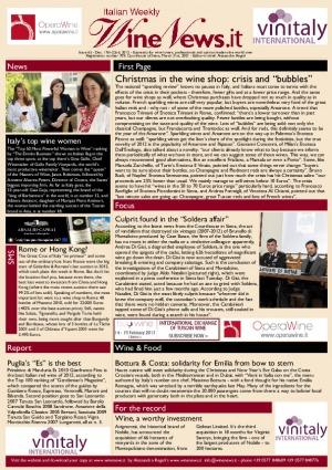 Italian Weekly Wine News N. 65