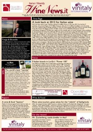 Italian Weekly Wine News N. 66