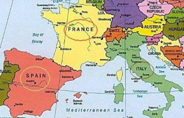 Cartina Spagna E Francia.In Termini Di Quantita Il Leader Delle Esportazioni Enoiche E La Spagna Ma Se Si Parla Di Prezzo Medio Cambia Tutto Francia In Testa Seguita Dalla Nuova Zelanda Italia A Meta Classifica