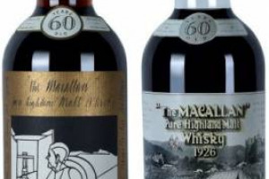 Whisky da record: all'Aeroporto di Dubai due bottiglie di Macallan 1926, griffate dagli artisti Sir Peter Blake e Valerio Adami, vendute a 1,2 milioni di dollari