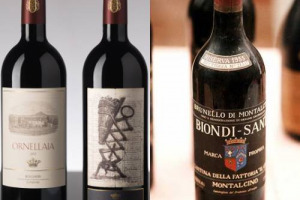 Biondi Santi, Ornellaia under Christie's hammer