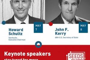 Howard Schultz, executive chairman Starbucks, John Kerry, ex Segretario Usa, e Nathan Myhrvold, ex Cto Microsoft a Seeds&Chips, Summit sulla food innovation (7-10 maggio) a Milano Food City