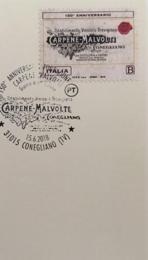 Carpenè Malvolti celebra i 150 anni dalla prima spumantizzazione della Glera con un francobollo