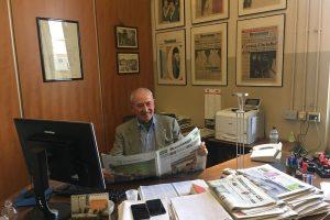 """Vittorio Moretti, patron del Gruppo Terra Moretti e ... direttore per un giorno di """"Brescia Oggi"""""""