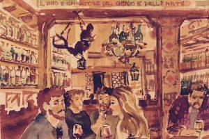 Nei vigneti del Piemonte, nei Castelli trentini, sul mare in Toscana, il vino sposa le arti