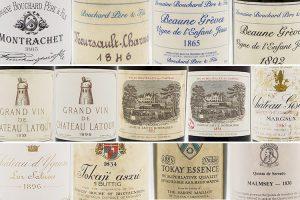 """14 etichette ultracentenarie, da Bordeaux, Borgogna e non solo per una cena ... """"pre fillossera"""""""