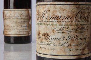 Record: 2 bottiglie di Romanée Conti Domaine de la Romanée-Conti 1945 a più di 1 milione di dollari