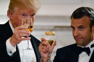 Warnings on Twitter: Donald Trump against Macron, brings up wine tariffs