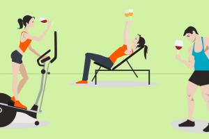 Quando il vino diventa motivatore per l'esercizio fisico: l'iniziativa in una palestra del Wisconsin
