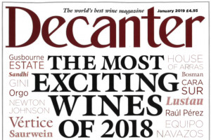 "Wine and rankings: The UK Decanter magazine with ""The most exciting wines of 2018"""