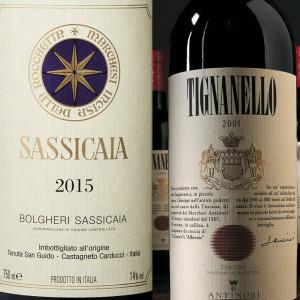 Sassicaia, Tignanello and Ornellaia: the top Italian wine brands according to Wine-Lister