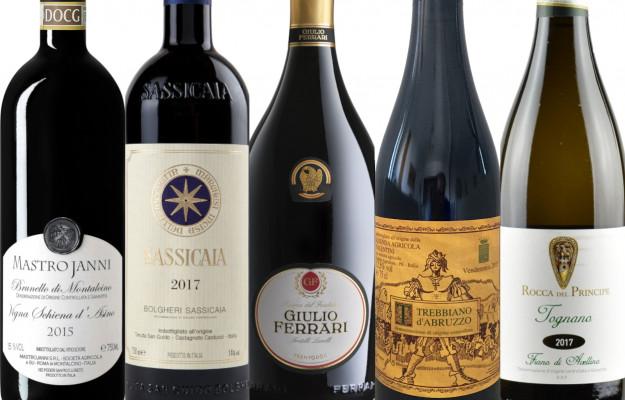 AIS, BIBENDA, DOCTOR WINE, FERRARI, GAMBERO ROSSO, GUIDE, INCROCIO, MARONI, MASTROJANNI, SLOW WINE, TENUTA SAN GUIDO, TOURING CLUB, VALENTINI E ROCCA DEL PRINCIPE, VERONELLI, vino, Italia