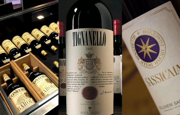 ANTINORI, BAROLO, BRUNELLO DI MONTALCINO, CONTERNO, FINE WINES, ITALY, LIV-EX, MONFORTINO, SASSICAIA, TENUTA SAN GUIDO, TIGNANELLO, WINE, News