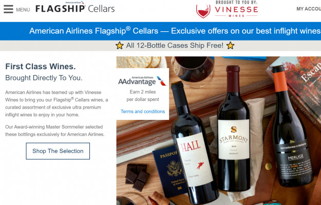 AMERICAN AIRLINES, DELIVERY, WINE, News