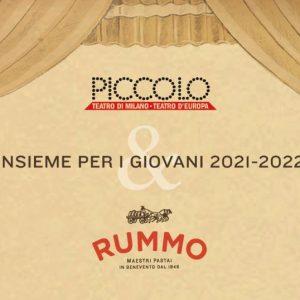 Pasta Rummo e Piccolo Teatro di Milano insieme per i ragazzi italiani privati della socialità