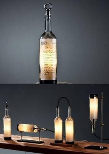 Lampade Con Bottiglie Di Vetro: Lampade con bottiglie di ...