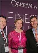 Bruce Sanderson, Alison Napjus e Thomas Matthews di Wine Spectator a Opera Wine