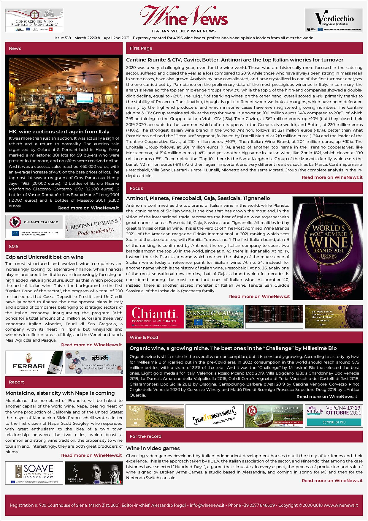 Italian Weekly WineNews