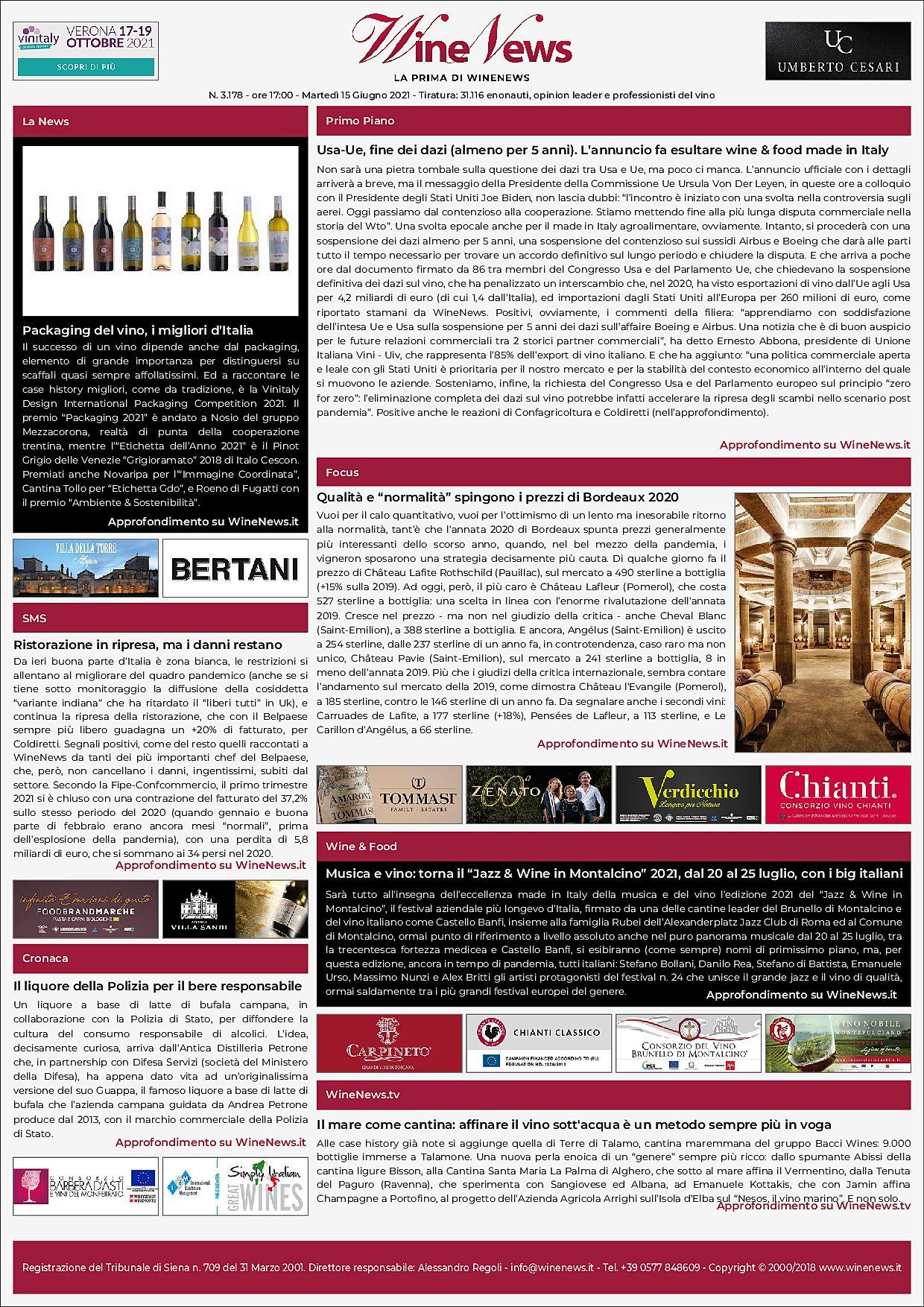 La Prima di WineNews